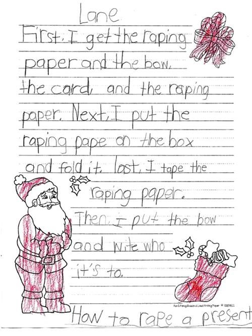 bow kid letter paper rape wrapping - 4281809152