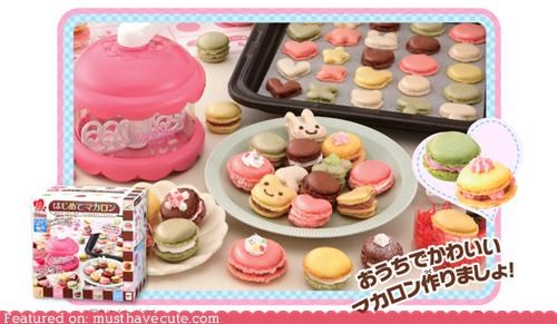 cookies cooking craft decorate DIY edible food kit macarons - 4281955328