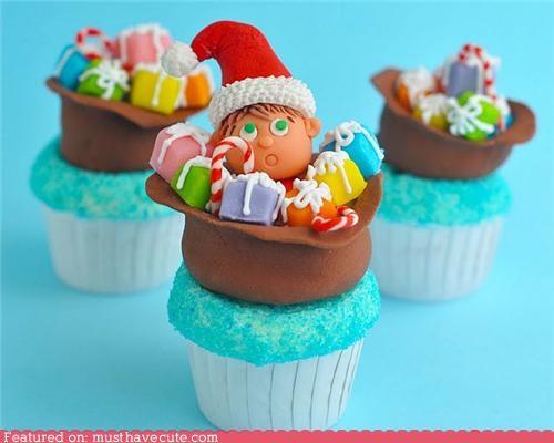 bag cupcake elf epicute fondant gifts hiding - 4281961728