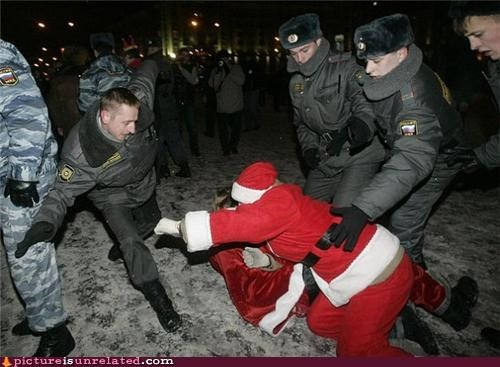 fight,holiday,santa,wtf