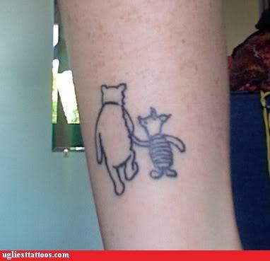 bad,tattoos,piglet,winnie the pooh