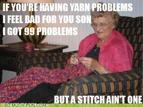 99 problems chorus Hova Jay Z knitting lyrics parody proof rhyming song stitch yarn - 4282131200