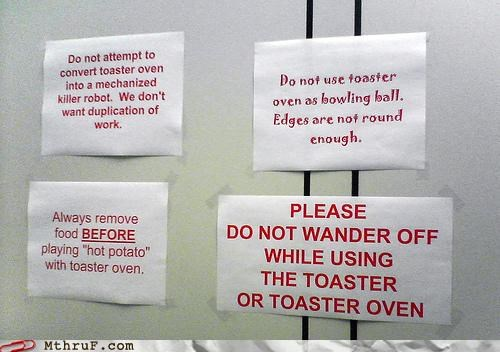 breakroom signs toaster - 4282277120
