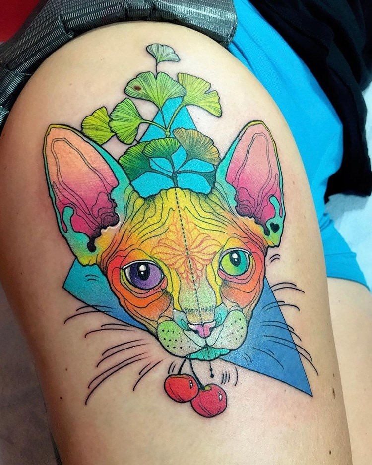 dogs tattoos Cats funny animals - 4282885