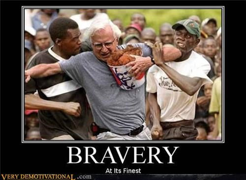 bravery colonel sanders fried chicken jk kfc racism stealing thieves wtf