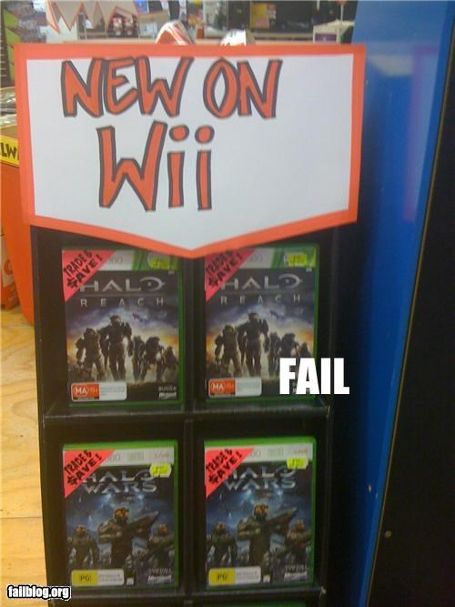 failboat,game,g rated,signs,store,video games,wii,xbox