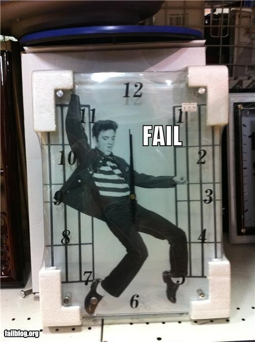 Elvis Clock Fail