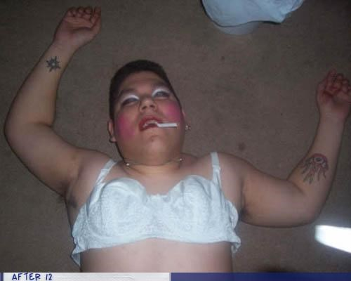 bra cigarette makeup passed out - 4284537344