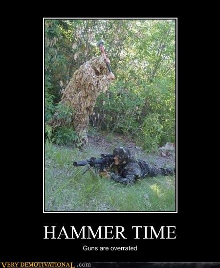 army guys,camouflage,guns,hammer,mc hammer