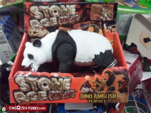 dinosaur kids knockoff panda Stone Age toy