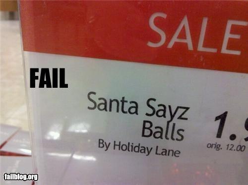 balls failboat g rated product santa sign store - 4285735424