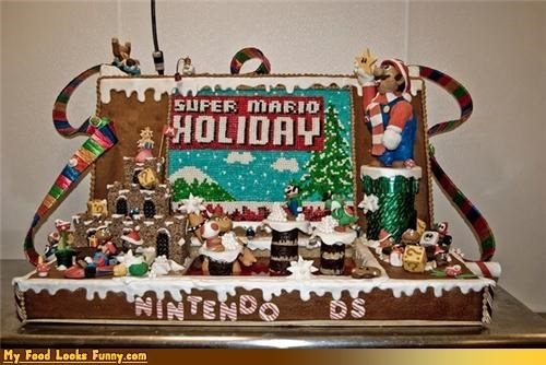 christmas,gingerbread,holidays,mario,nintendo,Super Mario bros,Sweet Treats