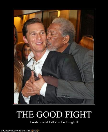 actor,demotivational,funny,lolz,matthew mcconaughey,Morgan Freeman