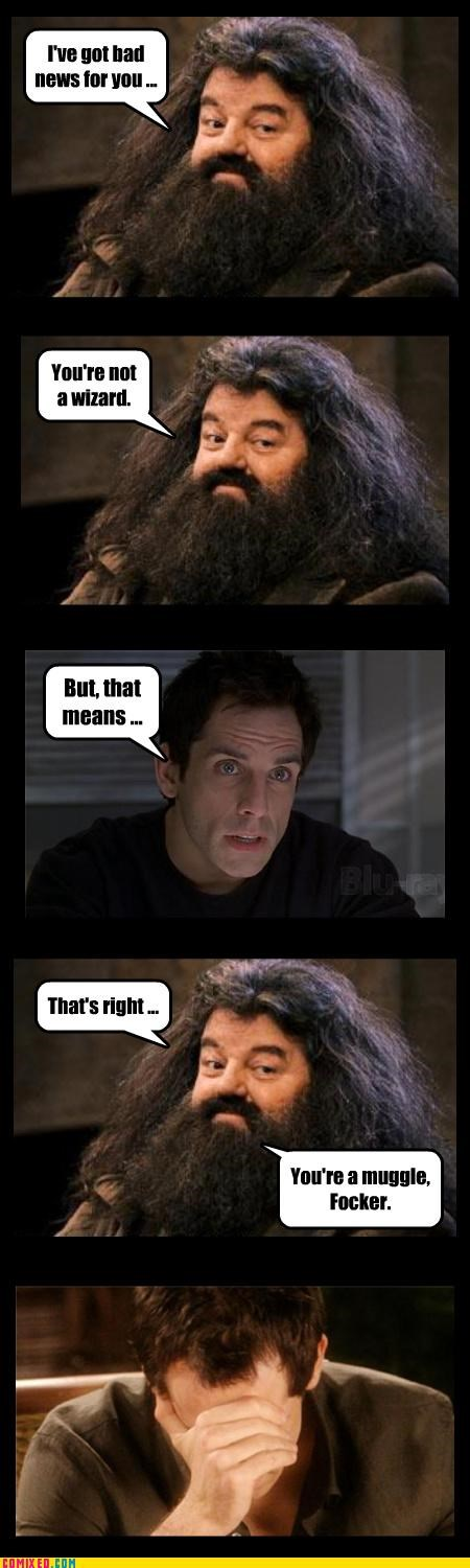 ben stiller,From the Movies,Greg Focker,Hagrid,Harry Potter,Meet The Fockers
