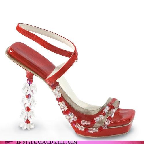 beads,christmas shoes,heels,snowflakes
