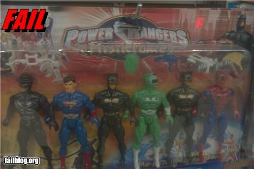 Brand Name FAILs failboat g rated knock off power rangers toys - 4286247424