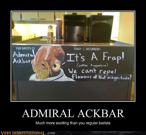 admiral ackbar,coffee,frappucino,its a trap,star wars