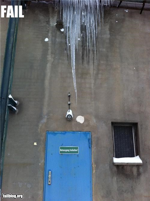 bad idea,dangerous,doors,emergency,exit,failboat,g rated,icicles