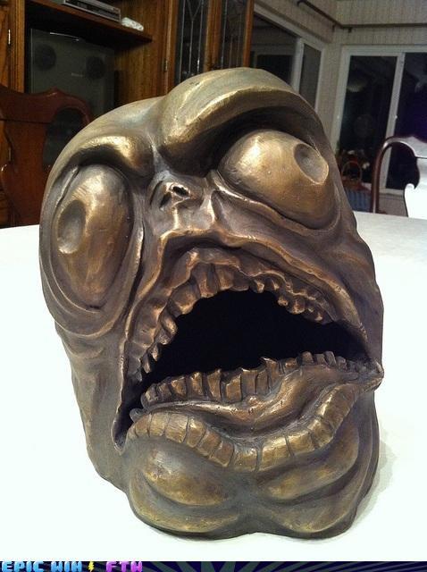 art bronze rage statue The Internet IRL - 4287454208