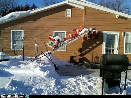 christmas Close Enough decoration ladder