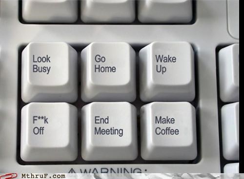 coffee,home,keyboard,look busy,meeting