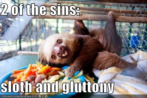 animal critters deadly food gluttony sins sloth - 4288355840