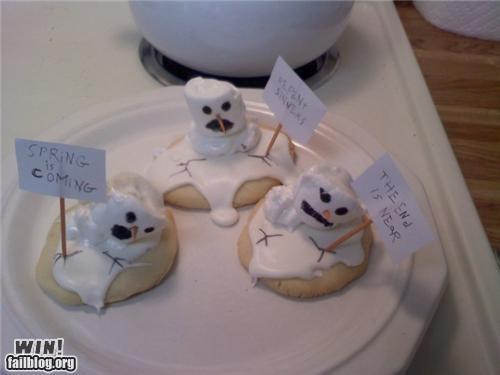 cute food snow winter - 4288476416