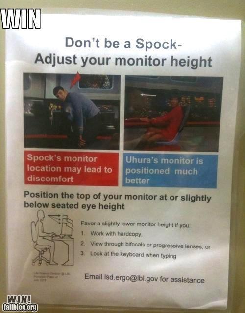 awesome at work nerdgasm notes Spock Star Trek - 4288525824
