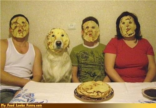 faces masks nalesniki pancakes poland Sweet Treats - 4288621824
