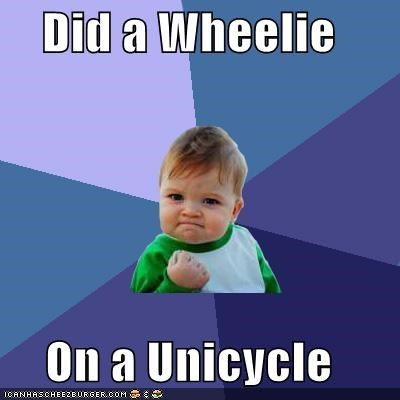 success kid,tricks,unicycle,wheelie