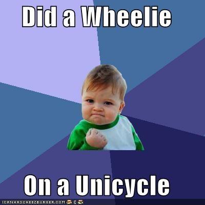 success kid tricks unicycle wheelie - 4288661248