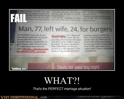 WHAT?! That's the PERFECT marriage situation!