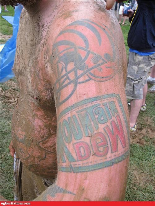 mountain dew,tattoos,football