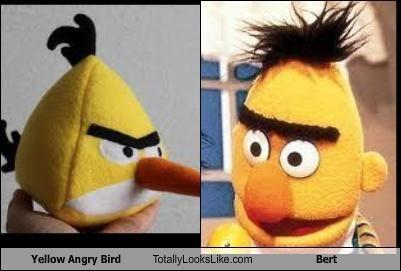 angry birds,bert,Hall of Fame,Sesame Street,unibrow