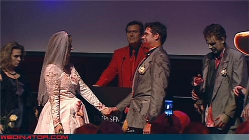 Bruce Campbell Officiates Zombie wedding