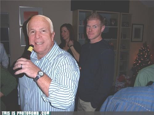 beer Holiday party holidays john mccain Party photobomb wtf - 4289697536