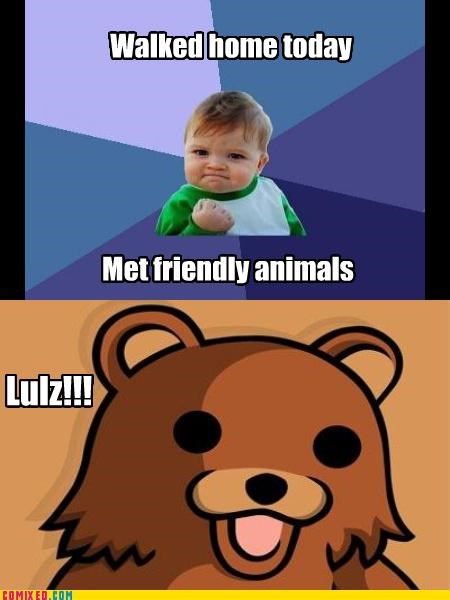 animals,baby,kids,Memes,pedobear,sad but true,success kid