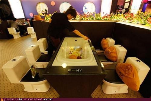 creepy dining food toilet wtf - 4290103552