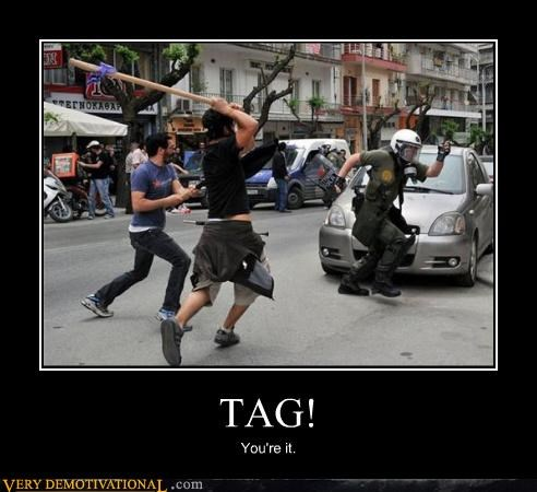 gas masks,riots,scary,sticks,tag,wtf