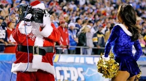 camera cheerleader creepy santa - 4291436544