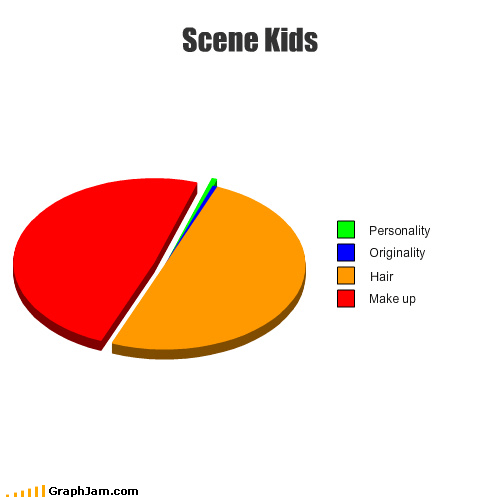 hair,make up,personality,Pie Chart,scene,style