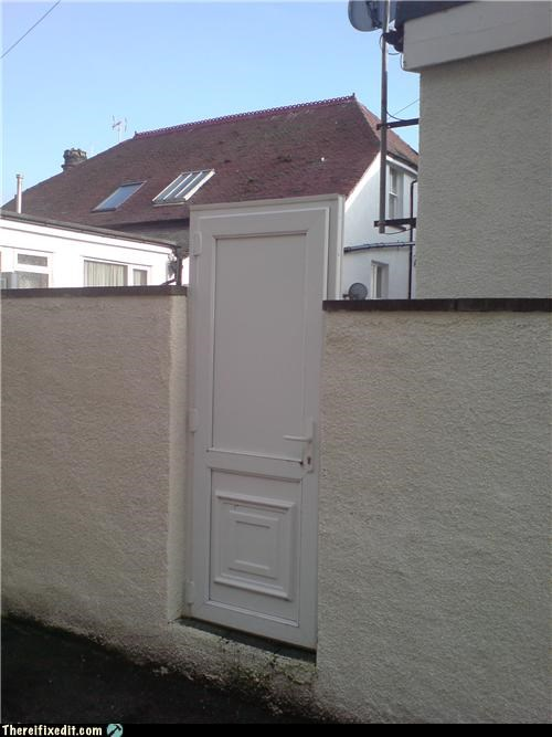 Tall door or short wall?