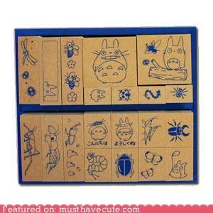 set stamps totoro - 4291699712