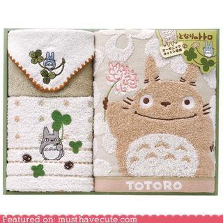 guests powder room totoro towels - 4291705856