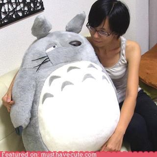 huge Plush snuggles totoro - 4291707904