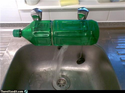 cold,faucet,good idea,separate,warm,water bottle