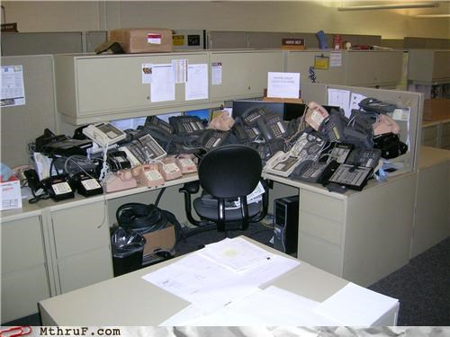 call,desk,ohones,prank