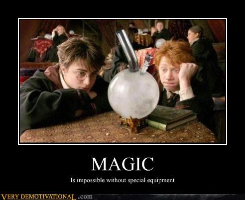 MAGIC Is impossible without special equipment