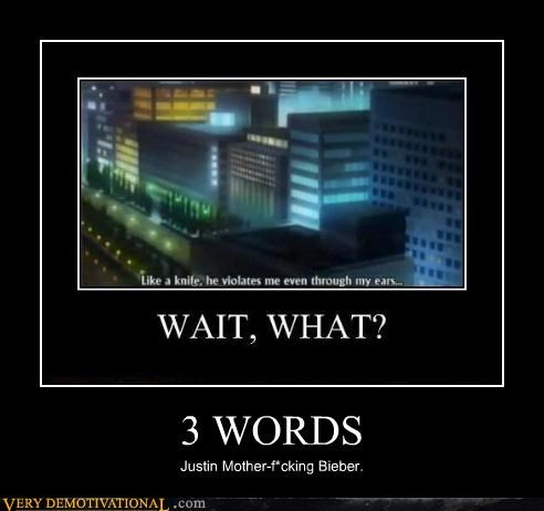 3 words,anime,grammar,justin bieber,recursion,subtitles,swearing