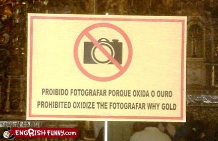 camera photography prohibit science sign wordy